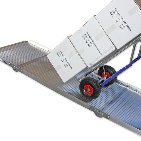 Oprijplaat extra breed - inklapbaar - 180 cm rijplaat rijgoot