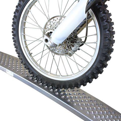 Aluminium oprijplaat - gebogen 150 cm oprijgoot rijplank plaat