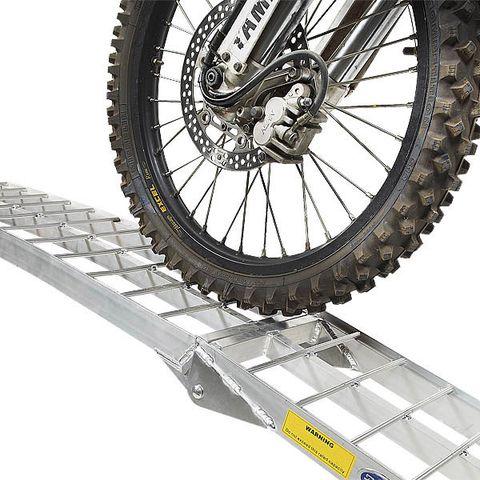 Aluminium oprijplaat 225 cm rijplaat oprijgoot rijplank