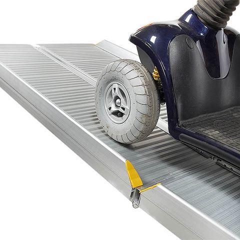 Sterke oprijplaat aluminium - inklapbaar - 180 cm rijplaat oprijgoot