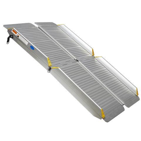 Oprijplaat inklapbaar - 120 cm rijplaat oprijgoot aluminium