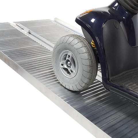 Brede oprijplaat - inklapbaar - 182 cm rijplaat rijgoot rijplank