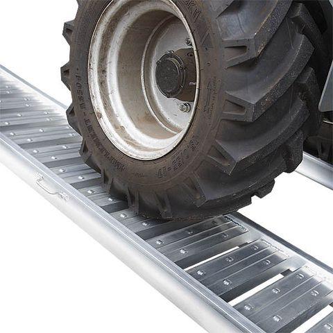 Aluminium oprijplaat - extra sterk 240 cm oprijgoot oprijhelling