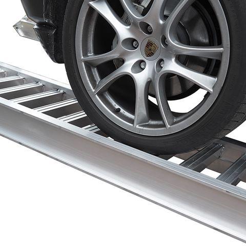 Aluminium oprijplaat auto - 350 cm - 2 ton rijgoot rijplaat