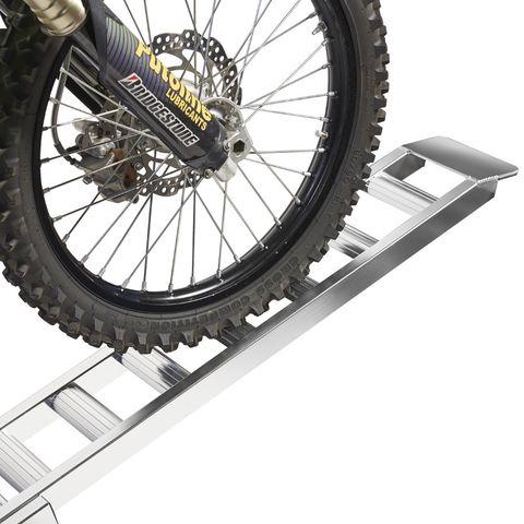 Aluminium oprijplaat (crossmotor) - 200 cm rijgoot rijplaat