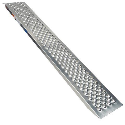 Oprijplaat rijplaat - aluminium - 150 cm rijgoot oprijhelling
