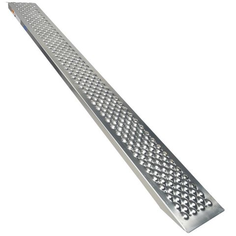 Oprijplaat rijplaat - 200 cm - aluminium rijgoot