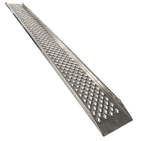 Oprijplaat aluminium 200 cm rijplaat oprijgoot