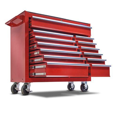 Gereedschapswagen met 13 laden - rood