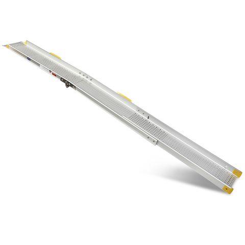 Inschuifbare oprijplaat - 240 cm rijgoot rijplaat rijhelling