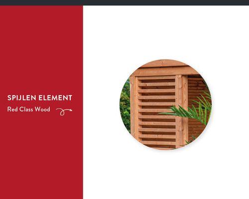 Spijlen Wand Element DHZ Overkapping Red Class Wood