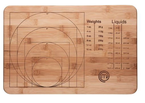 MasterChef Bamboo Weights and Measures Cutting Board 2