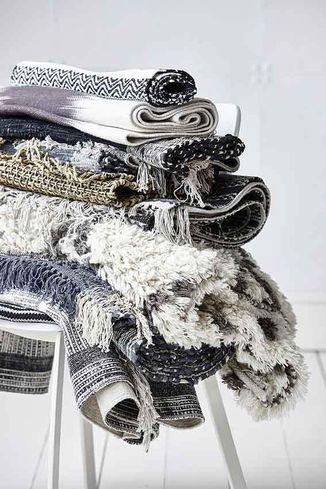House doctor vloerkleed julia zwart wit 160x230 cm for House doctor vloerkleed