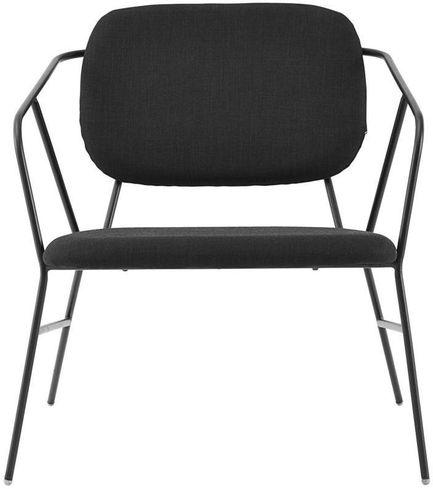 House doctor stoel klever zwart stof for House doctor stoel