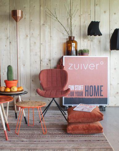 zuiver beistelltisch osb l fluor orange sale. Black Bedroom Furniture Sets. Home Design Ideas