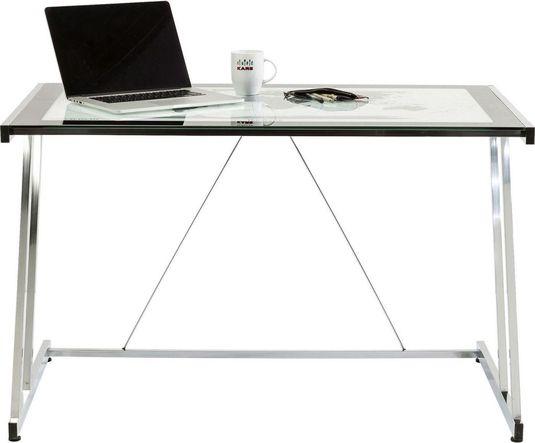 kare design schreibtisch mundi glas verchromtes stahl 120x70 cm. Black Bedroom Furniture Sets. Home Design Ideas