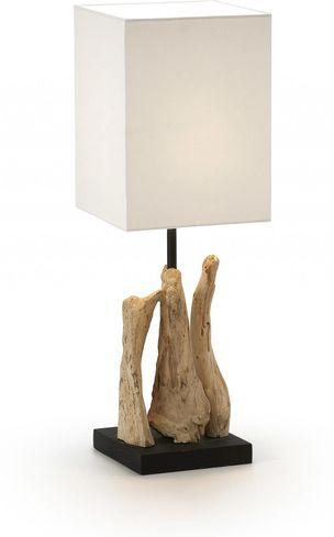 laforma tischlampe butler wei holz la forma sale sale. Black Bedroom Furniture Sets. Home Design Ideas