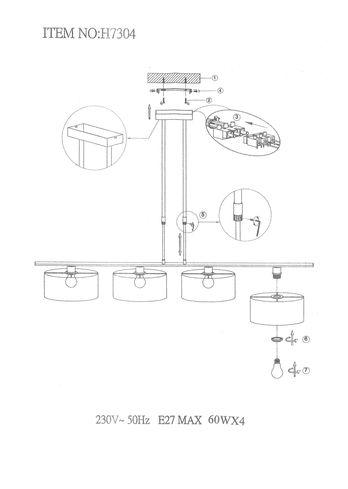 Hanglamp H7304S