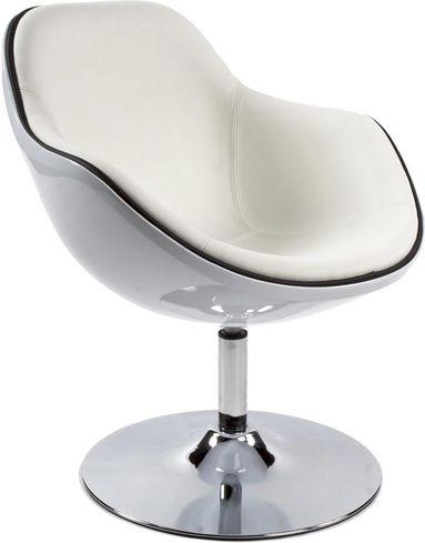Stoel daytona wit kunststof en kunstleer kokoon design for Design stoel wit