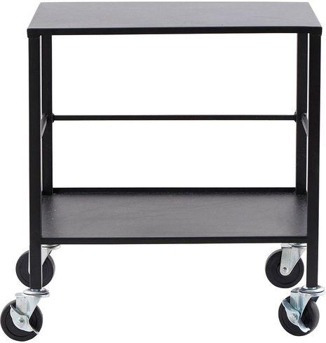 beistelltisch office mit rollen schwarz metall house doctor kaufen. Black Bedroom Furniture Sets. Home Design Ideas