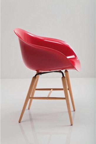 Stuhl forum wood rot mit armlehne kare design kaufen for Design stuhl rot