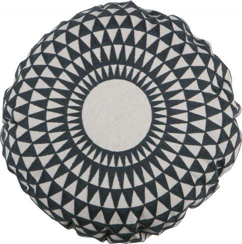 kissen inez blau rund 45 cm woood kaufen wohn und lifestylewebshop. Black Bedroom Furniture Sets. Home Design Ideas
