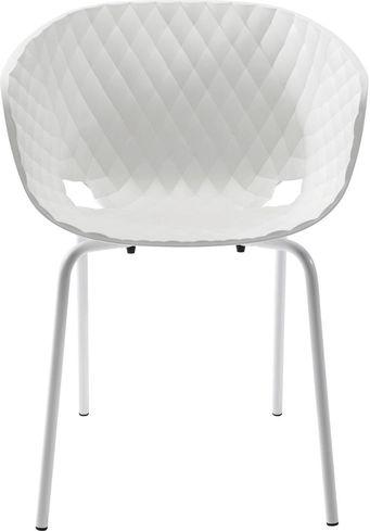 stuhl mit armlehne radar bubble wei kare design kaufen wohn und. Black Bedroom Furniture Sets. Home Design Ideas
