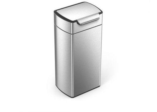 prullenbak touch bar 30 liter zilver simplehuman. Black Bedroom Furniture Sets. Home Design Ideas