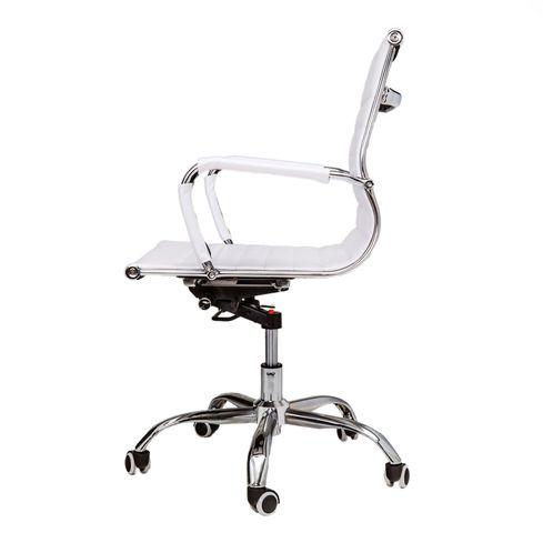 Lage Design Stoelen.Bureaustoel Randers Wit Met Lage Rugleuning Van Lil Design