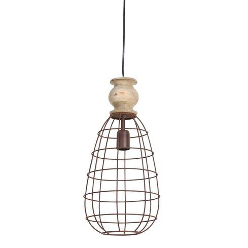 Hanglamp - Bakala - bruin - Light & Living