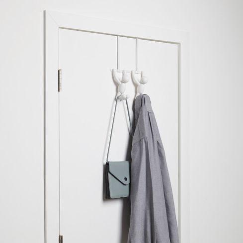 Kapstok Double Buddy - Wit - Voor over de deur
