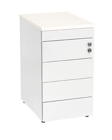 Aanbouwladenblok wit pennenlade 4-laden topblad 80x60cm
