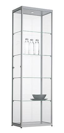 Vitrinekast 200x50x50cm Zwart Of Aluminium