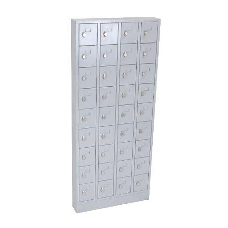 Lockerkast PEL 36-deurs 188 x 80 x 15cm Grijs