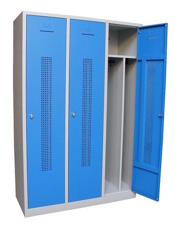 Garderobekast Perfo 3-deuren 180 x 80 x 50cm