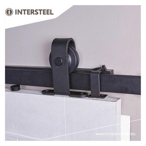 Intersteel Schuifdeursysteem Basic Top mat zwart