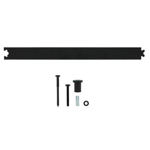 Intersteel Schuifdeursysteem – tussenrail 45 cm mat zwart