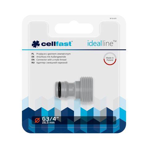 CELLFAST - KOPPELING MET BUITENDRAAD - IDEAL LINE™ PLUS - 3/4