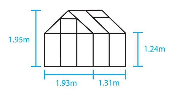 Royal Well Tuinkas en Fundering Popular 46 Blank Polycarbonaat 4mm