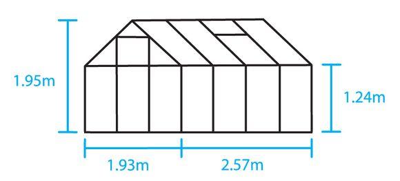 Royal Well Tuinkas en Fundering Popular 86 Blank Polycarbonaat 4mm