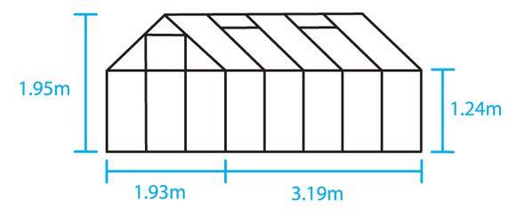 Royal Well Tuinkas en Fundering Popular 106 Groen Polyrcarbonaat 4mm