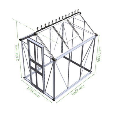 Royal Well Tuinkas Birdlip 64 Polycarbonaat 6 mm