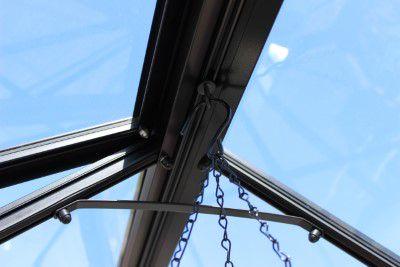 Royal Well Tuinkas Birdlip 84 Zwart Gecoat Veiligheidsglas 3 mm