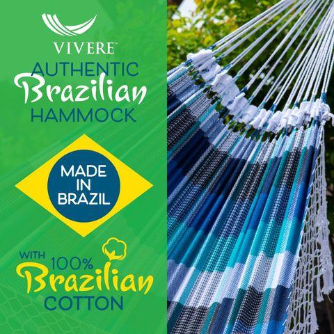 Vivere Authentieke Braziliaanse Hangmat Double Marina