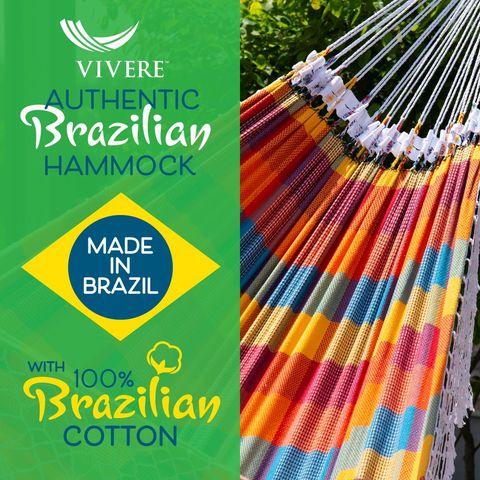 Vivere Authentieke Braziliaanse Hangmat Double Carnival