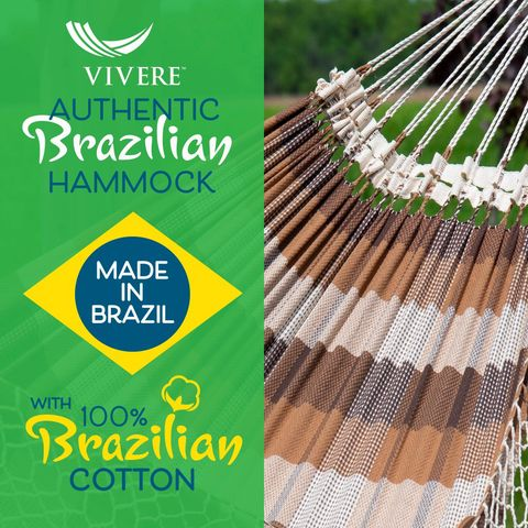 Vivere Authentieke Braziliaanse Hangmat Double Brazilwood