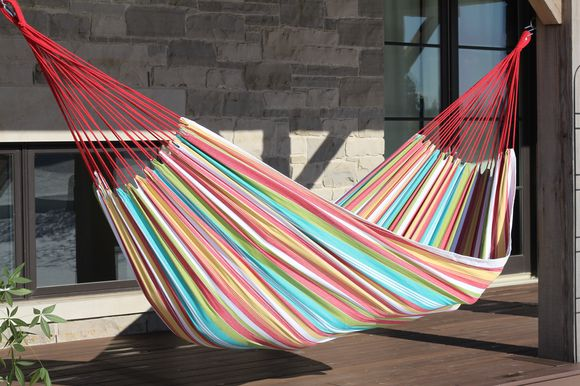BRAZILIAN COTTON HAMMOCK - DOUBLE - SALSA