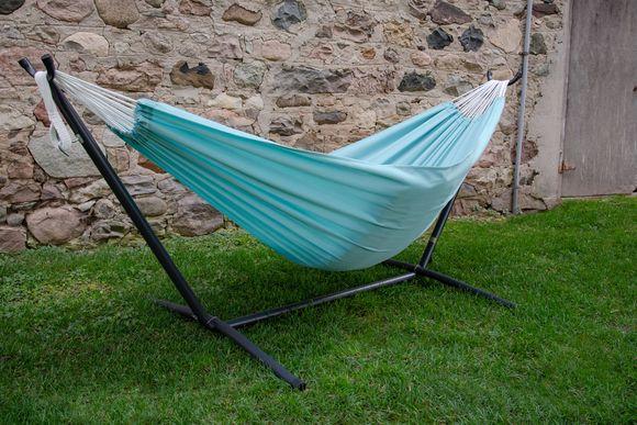 Vivere Combo Dubbele Polyester Hangmat met Standaard Aqua