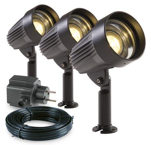 Garden Lights Tuinspot set Corvus LED 3 Stuks