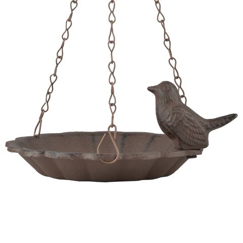 Esschert Hangend Vogelbad Met 1 Vogel